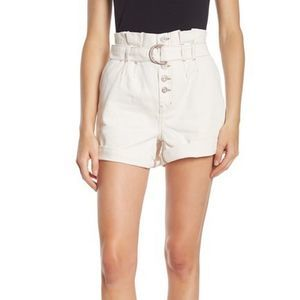 Free People Cream Cindy Utility Short High Waisted